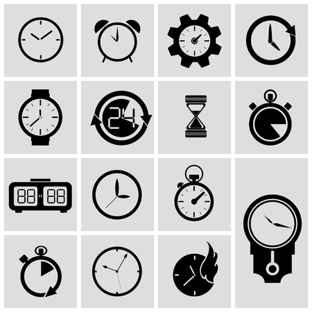 Black and grey timer icon  Vector