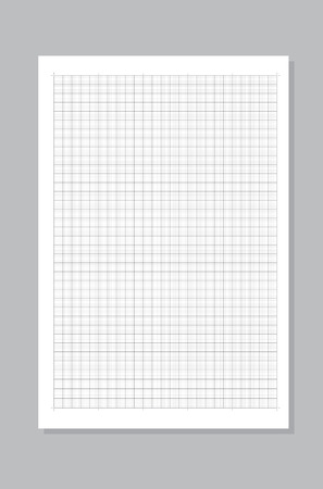 Blank black graph paper on white background Vector