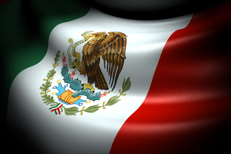 Flag of Mexico in the dark with brightness spot photo