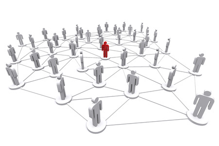 social gathering: Business human social network on white background