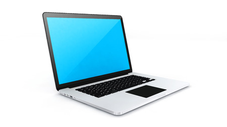 Digital device labtop on white background  photo