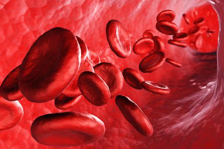 3d render red blood cells - science and medical concept. Standard-Bild