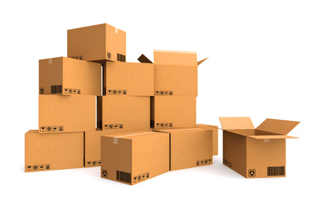 cardboard box: Cardboard boxes. Cargo, delivery and transportation logistics storage.
