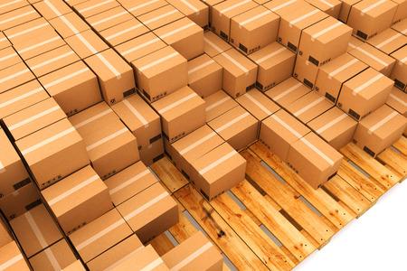 Kartonnen dozen. Cargo, levering en transport logistiek opslag.