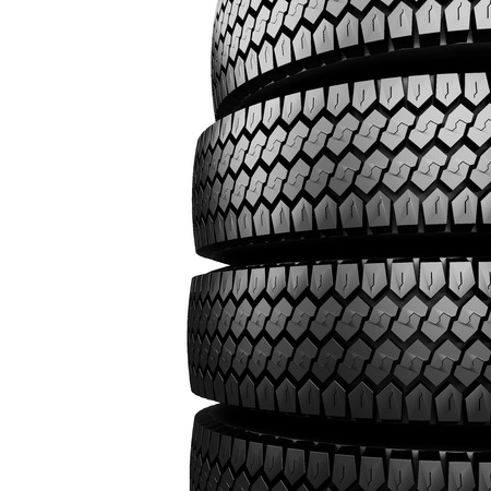 vehicle part: Black tire rubber isolated on white vehicle part spare part.