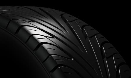Black tire rubber vehicle part spare part.