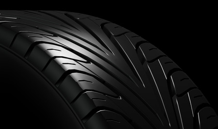 vehicle part: Black tire rubber vehicle part spare part.