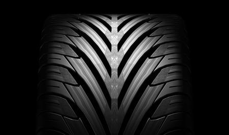 Zwarte band rubber voertuig deel onderdeel. Stockfoto