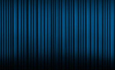 cortinas: Cortina azul con luz del punto en el teatro o estadio cine.