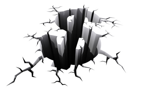 crisis economica: Muestra de dólar suelo agrietado, crisis del dólar, el concepto de crisis financiera.