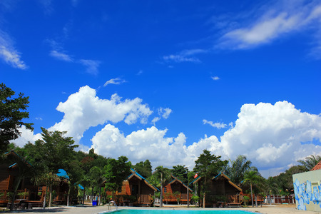 sensory perception: Sky Sea and pool in Phayun Beach in Ban Chang District of Rayong Province