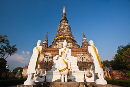 Buddha of Wat Yai Chaimongkol, Ayutthaya Thailand photo
