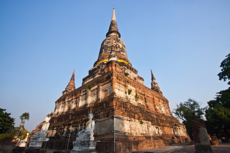 Stupa of Wat Yai Chaimongkol, Ayutthaya Thailand photo