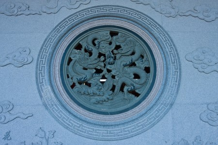 air hole: The air hole on chinese temple inThailand