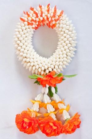 Thai style of plastic flower garland image