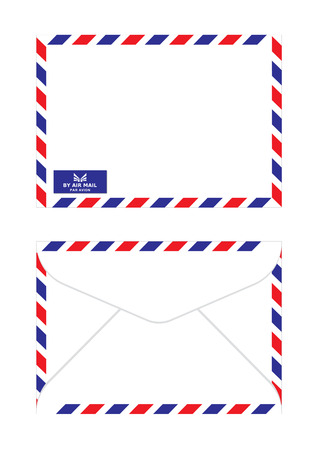 actual: air mail envelope in classic actual size.