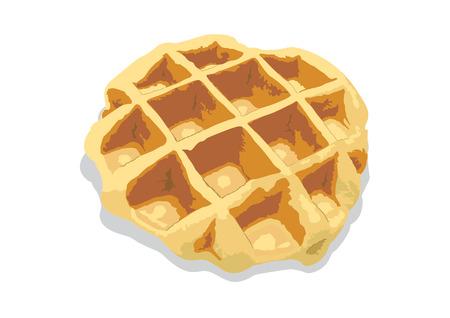 waffle: a single waffle