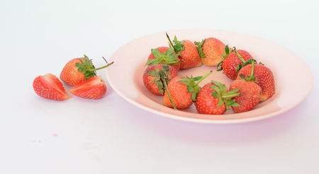 Strawberries isolated white background,be fresh fruit in valentines day,white background