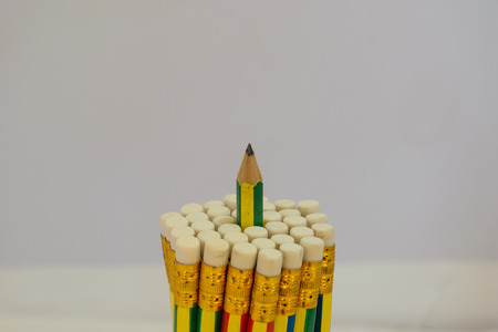 large group of object: Pencils circle shape, object is isolated, white  background