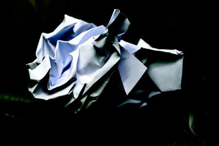 Junk paper with black background