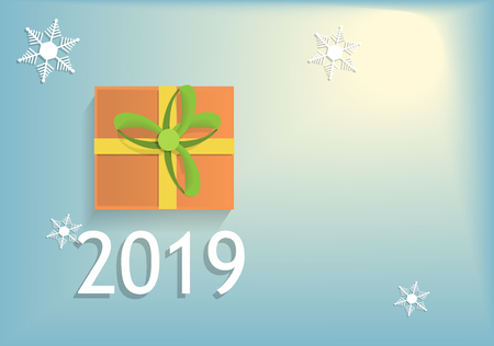 gift 2019 new year vector background Ilustracja