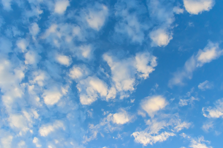 Blue sky and white clouds beautiful background nature,spring and summer season in daily lighting,brighting clear backdrop.