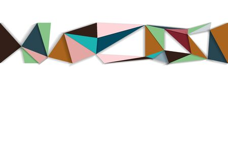 Abstract background low poly modern multicultural  design, copy space wallpaper polygon concept, geometric and triangle shape, colorful structure connection futuristic backdrop, vector art, illustration Stock Illustratie