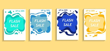 Banner template A4 design vector,future geometric modern shape colorful,ESP 10 vector