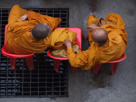 Two monk Stock Photo