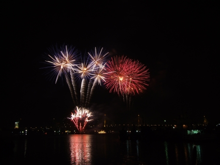 fireworks  beautiful in rever
