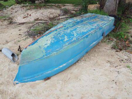 varkala: boat on beach
