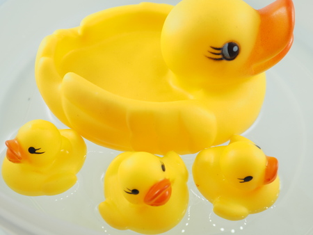 toy duck yellow Stock Photo