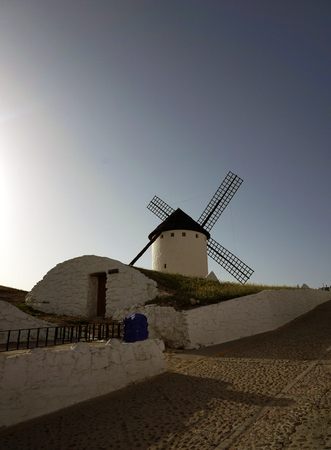 Famous windmills of the city of Campo de Criptana, Don Quixote de la mancha. Ciudad Real Spain Stock Photo