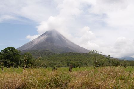 active volcano: View of the active volcano Arenal in Costa Rica