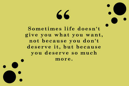 you deserve so much more. qoutes of the day 스톡 콘텐츠