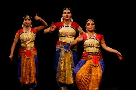 DelNew Delhi, Delhi/ India- June 14 2020: a group of bharatnatyam dancers. Editorial