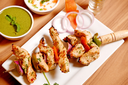 Chicken Reshmi Kebab Stock Photo