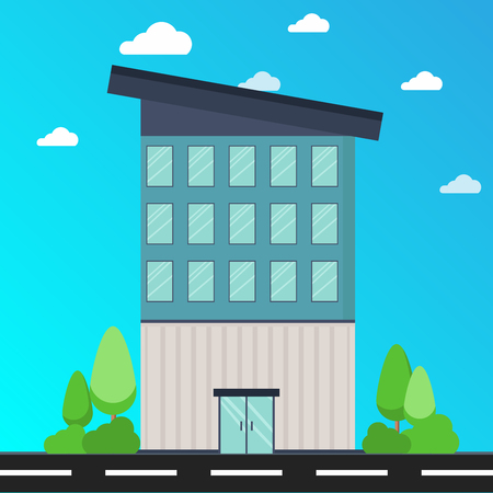 Office Building Conceptual Design Illustration