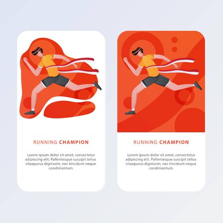 Aplication Mobile Page template of Sport. Modern flat design concept of web page design for website and mobile website. Easy to edit and customize. Vector illustration.