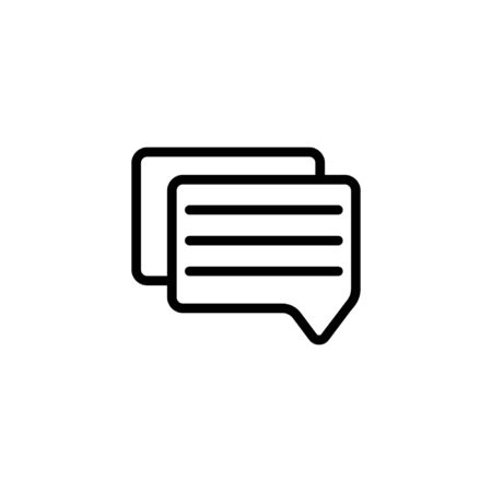 chating outline icon. vector illustration. Isolated on white background.