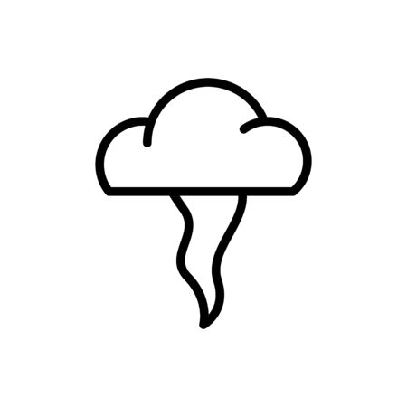 tornado outline icon. vector illustration. Isolated on white background.