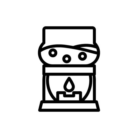 boil coffee outline icon. vector illustration. Isolated on white background.