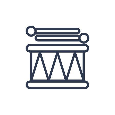 drum icon in outline style. vector illustration and editable stroke. Isolated on white background. Illustration