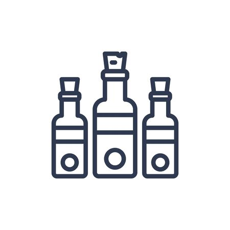 bottle icon in outline style. vector illustration and editable stroke. Isolated on white background.