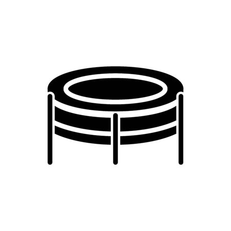 Icon trampoline in glyph style. vector illustration and editable stroke. Isolated on white background.
