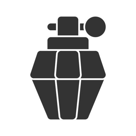 Icon parfume in glyph style. vector illustration and editable stroke. Isolated on white background.