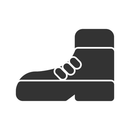 Icon shoes in glyph style. vector illustration and editable stroke. Isolated on white background.