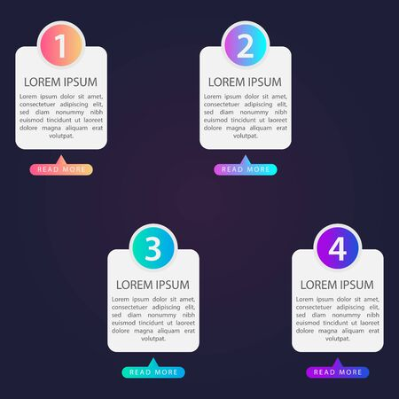 Business Infographics. Vector business template for presentations. Creative concepts for infographics. Banque d'images - 138225536