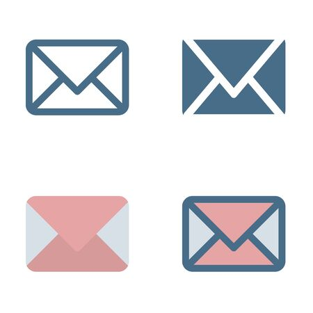 Email icon in isolated on white background. for your web site design, logo, app, UI. Vector graphics illustration and editable stroke. EPS 10. Logo