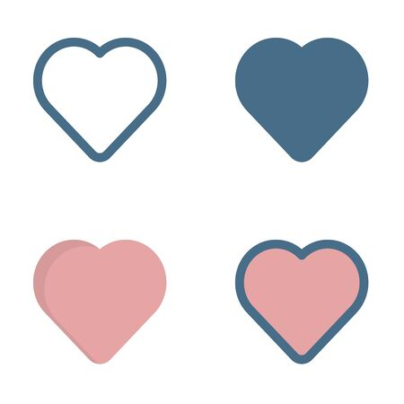 love icon in isolated on white background. for your web site design, logo, app, UI. Vector graphics illustration and editable stroke. EPS 10.